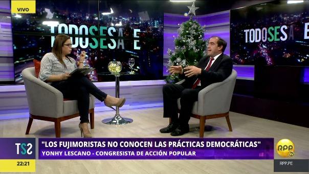 El congresista de Acción Popular dijo que los fujimoristas no conocen de prácticas democráticas.