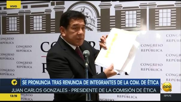 Juan Carlos Gonzales dijo que la prensa y los políticos solo le prestan atención a su comisión cuando archiva una denuncia contra un fujimorista.