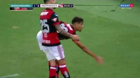 Flamengo esta jugando su séptima participación en una Copa Sudamericana.