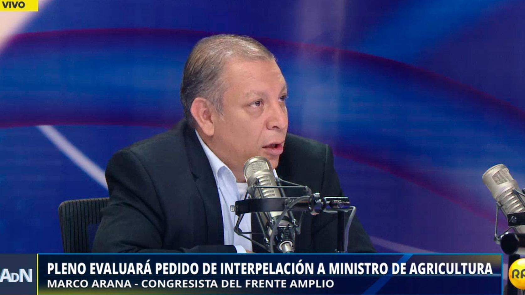 Pleno evaluará el pedido de interpelación al ministro de Agricultura, José Manuel Hernández.