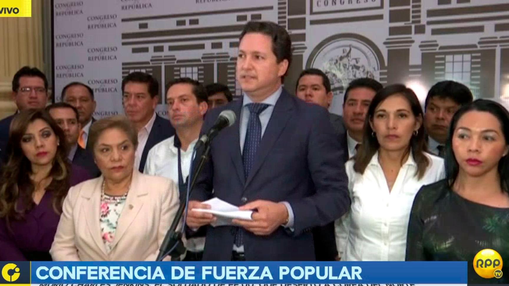 La conferencia de prensa de Fuerza Popular