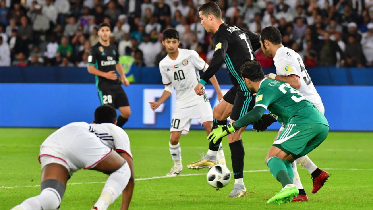 Cristiano Ronaldo también participó en la jugada del segundo gol madrileño.