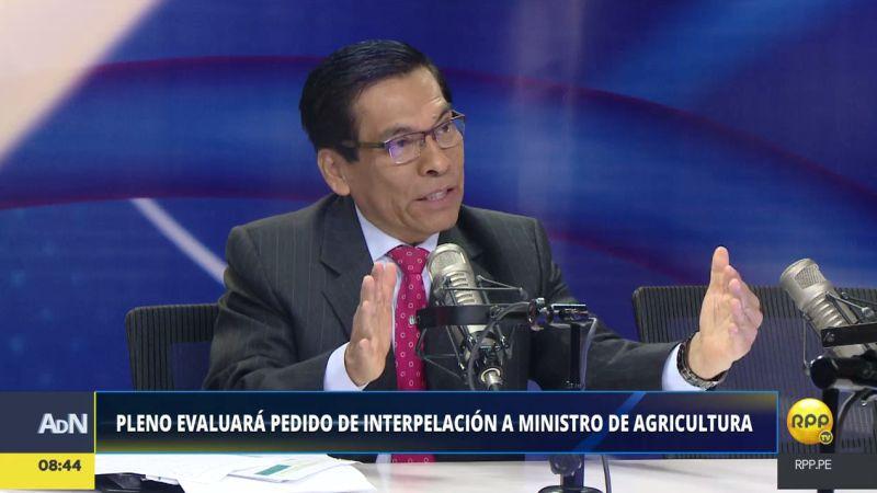José Hernández consideró que la interpelación en su contra es una oportunidad de explicar lo que está haciendo por la reconstrucción.