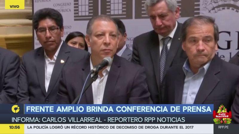 Frente Amplio planteó también que se realicen elecciones presidenciales y congresales.