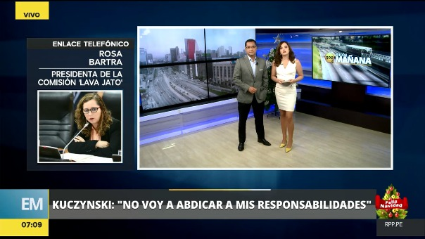 Rosa María Bartra habló sobre la explicación que dio PPK en una mensaje a la Nación sobre sus vínculos con Odebrecht.