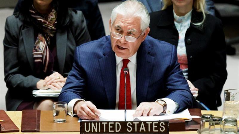 El jefe de la diplomacia estadounidense recalcó que su país confía en una solución diplomática a la crisis norcoreana.