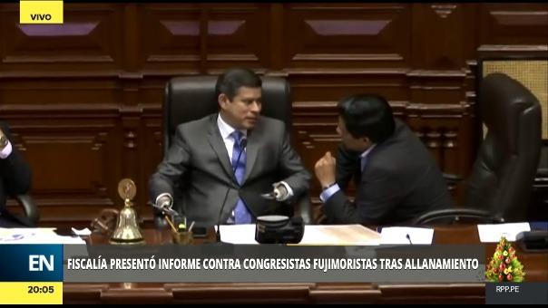 Son nueve los congresista fujimorista que ingresaron a los locales de Fuerza Popular mientras se realizaba le allanamiento que aprobó el Poder Judicial.