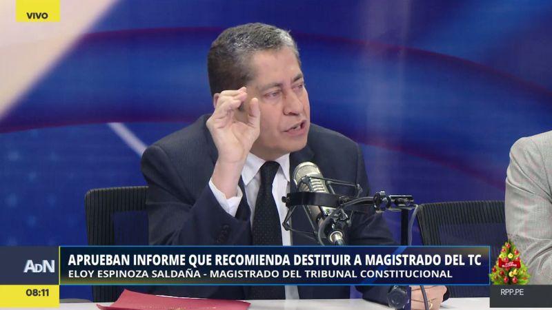 Eloy Espinosa-Saldaña habló con RPP Noticias tras conocerse el informe congresal que pide su destitución.