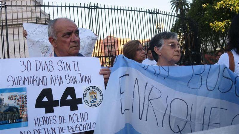 El ARA San Juan desapareció el pasado 15 de noviembre, con 44 tripulantes a bordo.
