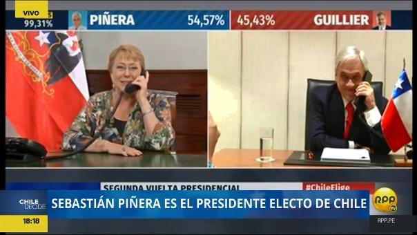 Ambos, Bachelet y Peñera han sido elegidos dos veces como presidentes de Chile.