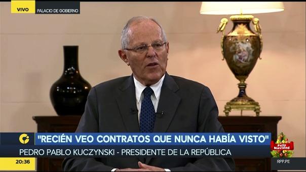 El presidente KUczynski despejó las interrogantes que se tenían sobre la renuncia del ministro del Interior.