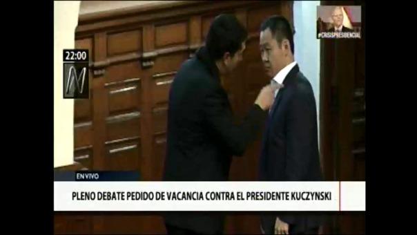 La discusión con Miguel Torres terminó mal. Ambos congresistas se gritaron y ni se despidieron.