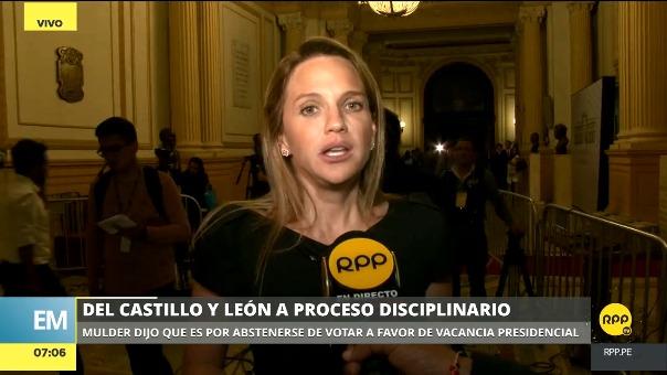 Luciana León aseguró que se abstuvo de votar en la moción de vacancia contra PPK por decisión propia.