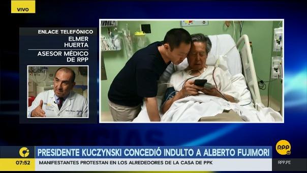 El presidente Pedro Pablo Kuczynski concedió el indulto humanitario al exmandatario Alberto Fujimori, por recomendación de una junta médica.