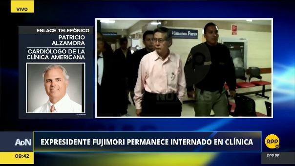 El exmandatario Alberto Fujimori permanece internado en la Clínica Centenario, ubicada en el distrito de Jesús María.
