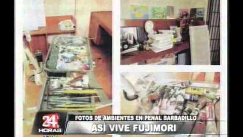 En noviembre de 2012 se difundieron imágenes de los ambientes de la celda de Alberto Fujimori en el penal de la Diroes.