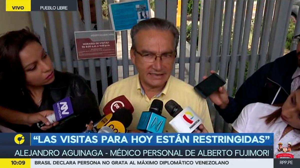 Alejandro Aguinaga es el médico personal de Alberto Fujimori. Antes fue ministro de Salud durante su gobierno (1999-2000) y congresista por el fujimorismo entre 2006 y 2016.