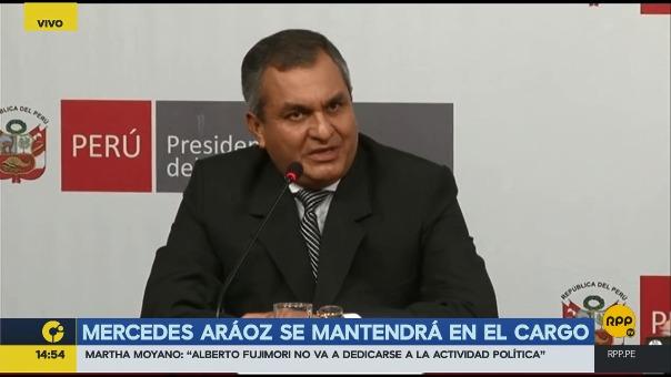 El ministro del Interior juró a la 1 de la tarde en Palacio de Gobierno.