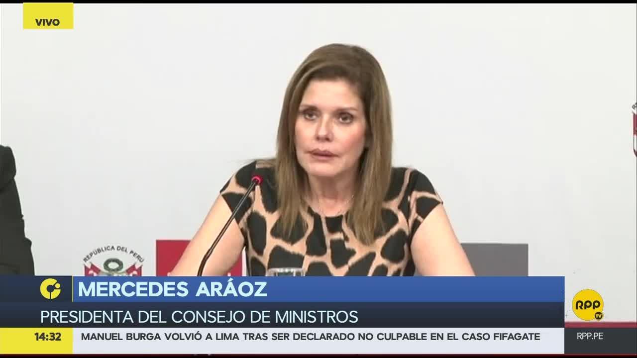 La jefa del Gabinete dio sus primeras declaraciones tras el indulto a Alberto Fujimori.