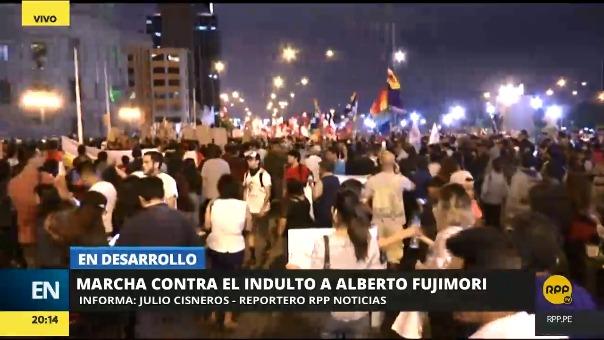 La manifestación más multitudinaria se da en la capital Lima.