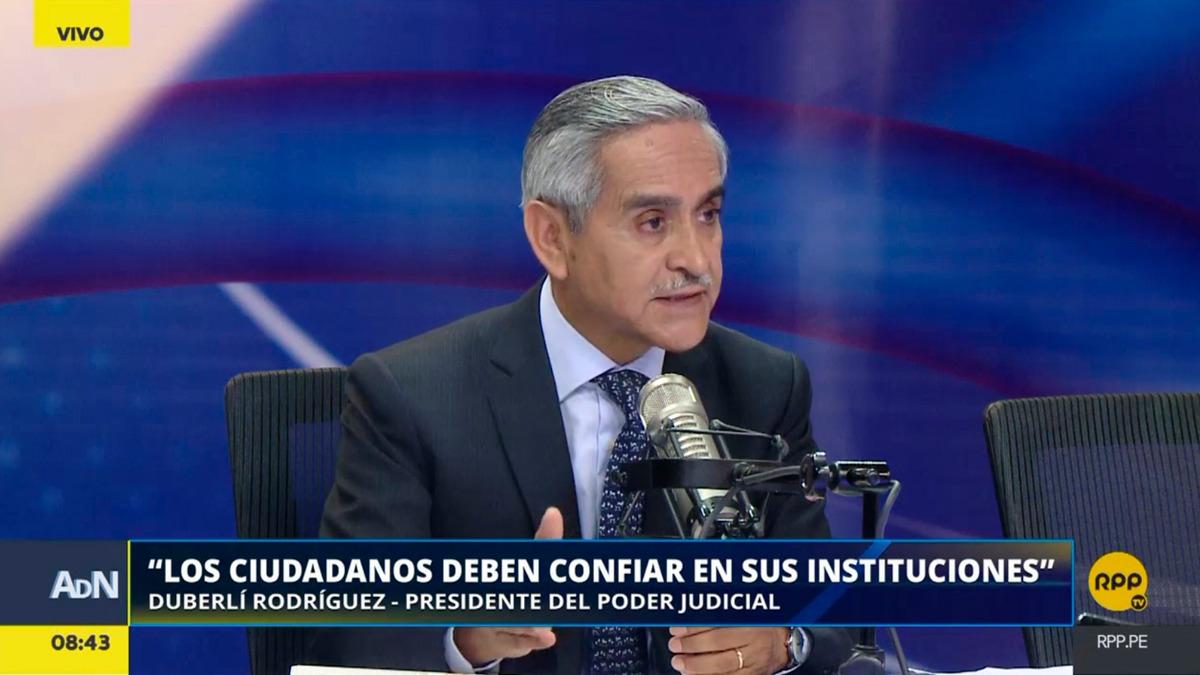 Duberlí Rodríguez conversó con RPP Noticias sobre los cambios en el Poder Judicial.