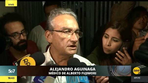Alejandro Aguinaga dijo que aún no se le ha comentado a Alberto Fujimori sobre el pronunciamiento de la Corte Interamericana de Derechos Humanos.