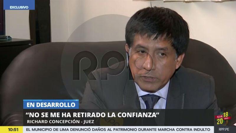 RPP Noticias entrevistó en exclusiva al juez Richard Concepción Carhuancho.