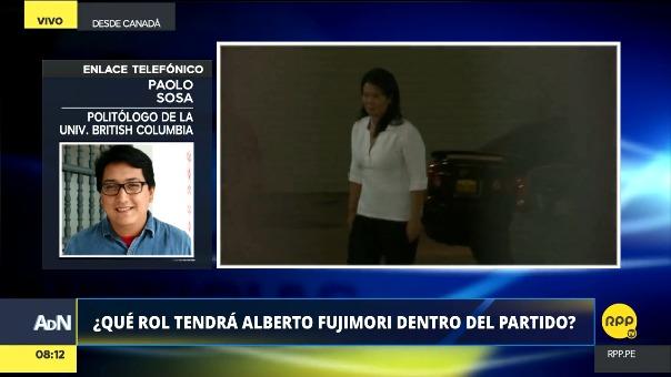 El politólogo Paolo SOsa analiza los posibles escenarios que podrían existir en el fujimorismo tras la liberación del líder histórico Alberto Fujimori.