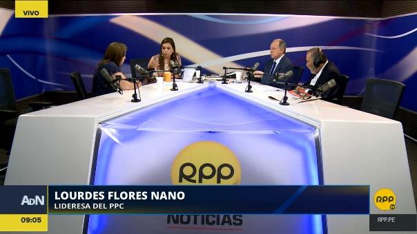 Lourdes Flores en Ampliación de Noticias