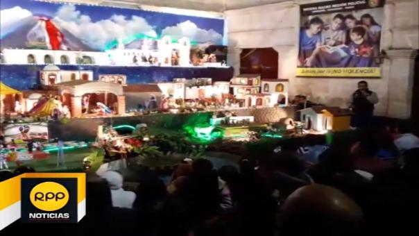 Unas 80 mil personas visitaron el nacimiento elaborado por la PNP.