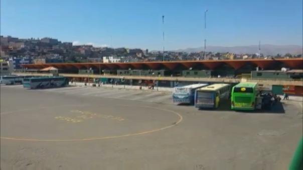 Disminuye demanda de pasajes en terminal terrestre de Arequipa.