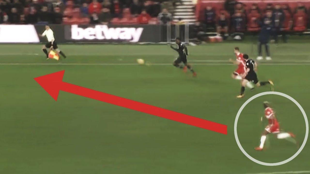 Adama Traoré recorrió 70 metros a toda velocidad para recuperar la pelota.