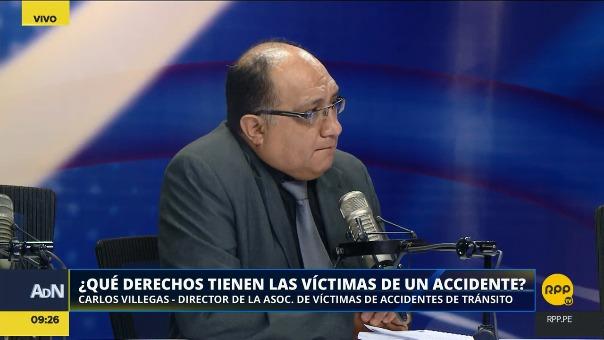 Carlos Villegas, director de la Asociación de Víctimas de Accidentes de Tránsito.