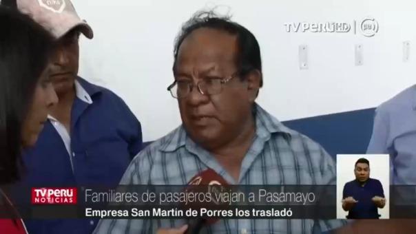 La empresa San Martín de Porres trasladó gratuitamente a los familiares de las víctimas hacia Pasamayo.