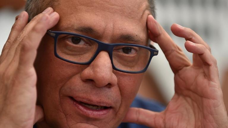 Jorge Glas fue sentenciado en diciembre a seis años de cárcel