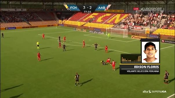 Edison Flores juega en el Aalborg de Dinamarca.