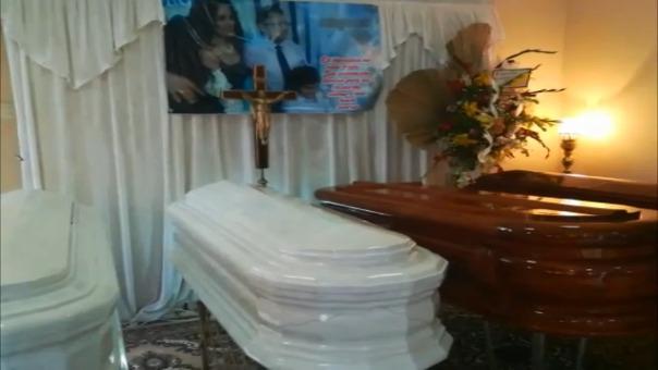 Velatorio en Huacho de los restos de los cuatro integrantes de la familia Cóndor Chirito.