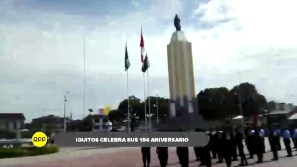 Iquitos celebra 154 años de creación.