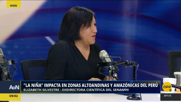 Elizabeth Silvestre, exdirectora científica del Senamhi