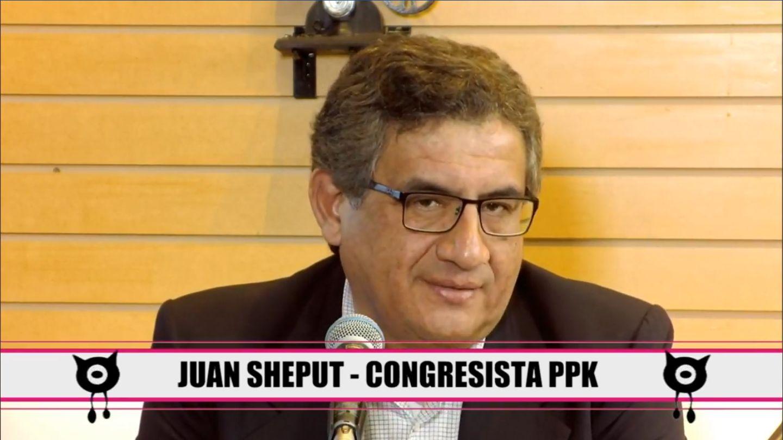 Congresista Juan Sheput durante entrevista en