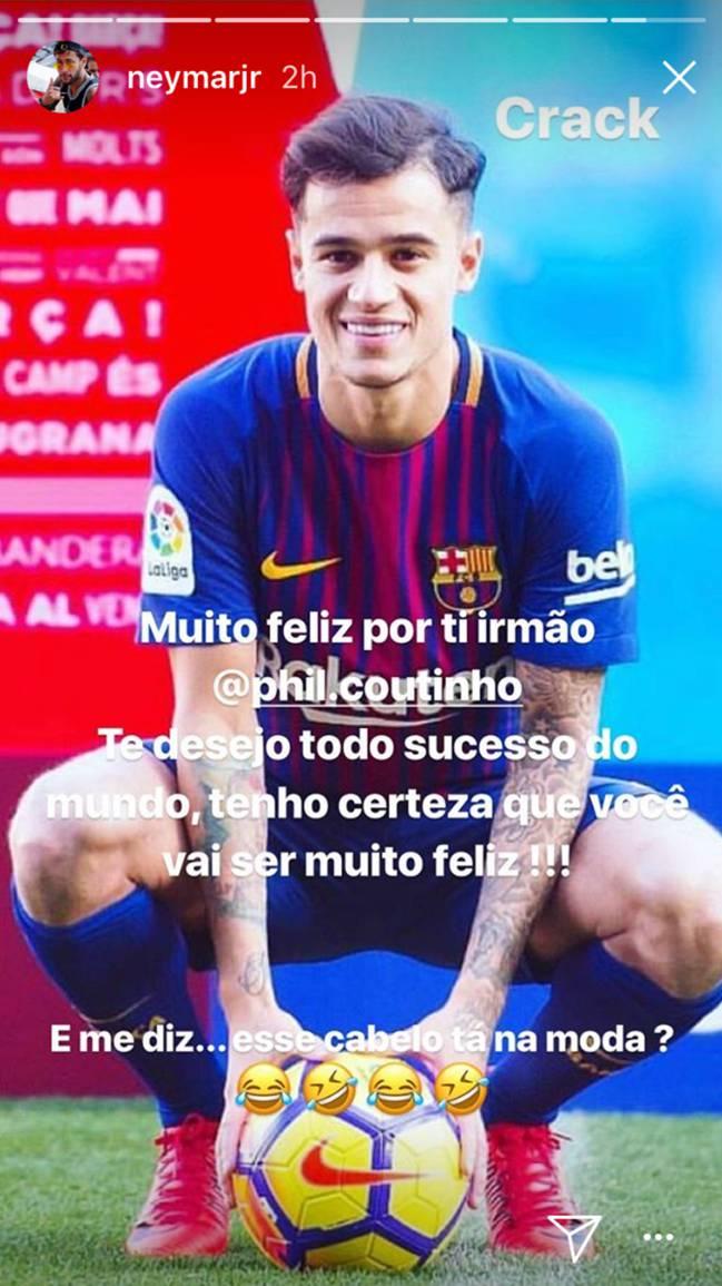 Neymar fue uno de los que convenció al Barcelona para que ficharan a Philippe Coutinho.