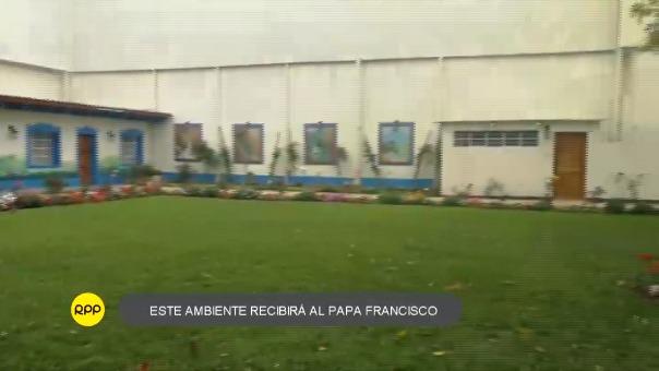 Lugar que albergará al Papa en Trujillo