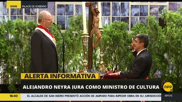 Así fue la juramentación de Alejandro Neyra en el Gran Comedor de Palacio de Gobierno.