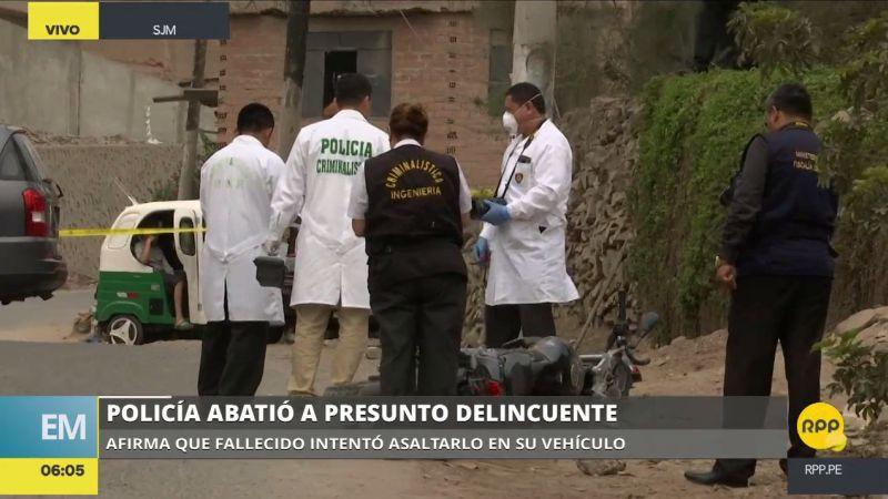 Los familiares de la víctima negaron que sea delincuente y acusaron al policía de disparar sin motivo.