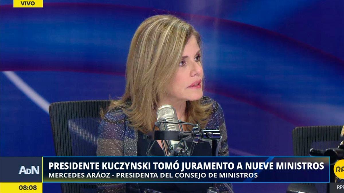 Mércedes Aráoz habló sobre el nombramiento del aprista Javier Barreda como ministro de Trabajo.