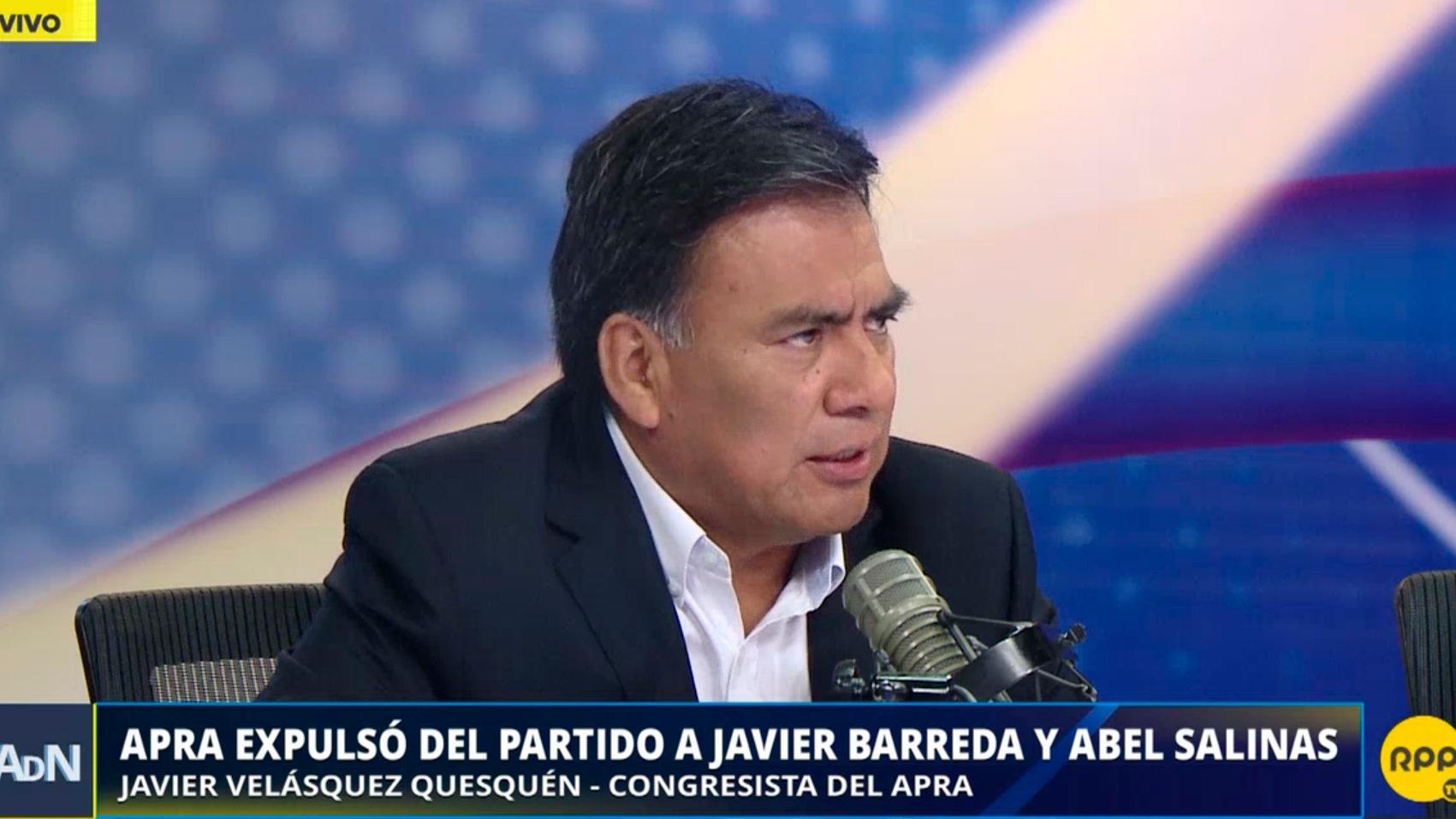 El APRA expulsó del partido a Javier Barreda y Abel Salinas