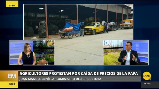 El exministro de Agricultura, Juan Manuel Benítez, explicó las razones de la protesta de los agricultores.