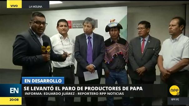 El ministro de Agricultura mencionó que ya revisó el pieglo de reclamos que le hicieron llegar los productores de papa.