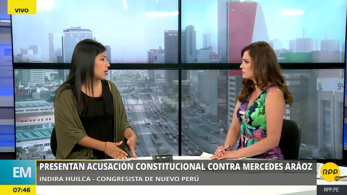 Indira Huilca también explicó el sentido de la acusación constitucional que presentó el Nuevo Perú contra los ministros Aráoz y Mendoza.