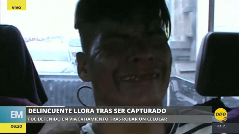 Albert Zúñiga Facho (30) pidió perdón y, entre sollozos, suplicó que lo dejen ir con la promesa de no volver a delinquir.